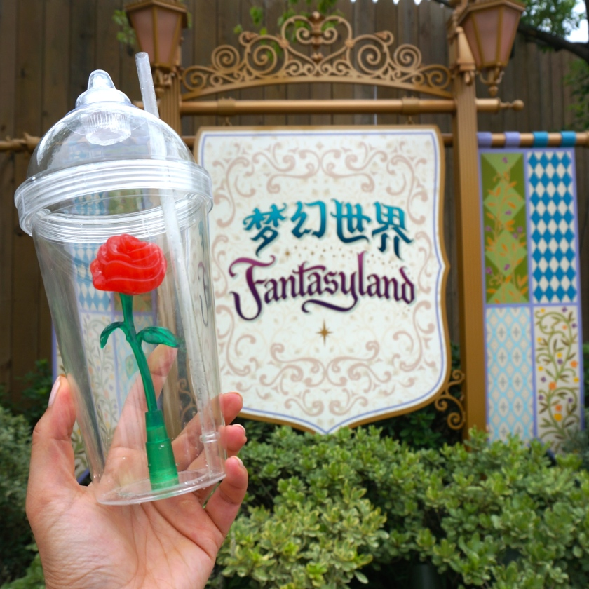Beauty and the Beast Enchanted Rose Cup Shanghai Disneyland