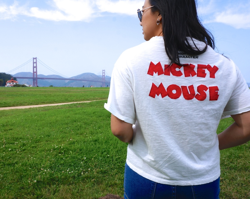 san francisco golden gate bridge mickey mouse disney style