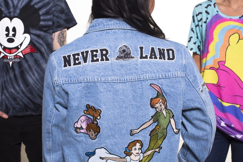 cakeworthy neverland peter pan denim jacket disney style second star to the right