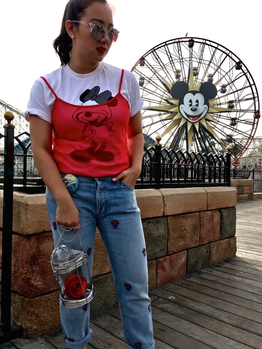 paradise pier california adventure minnie mouse disney style mickey