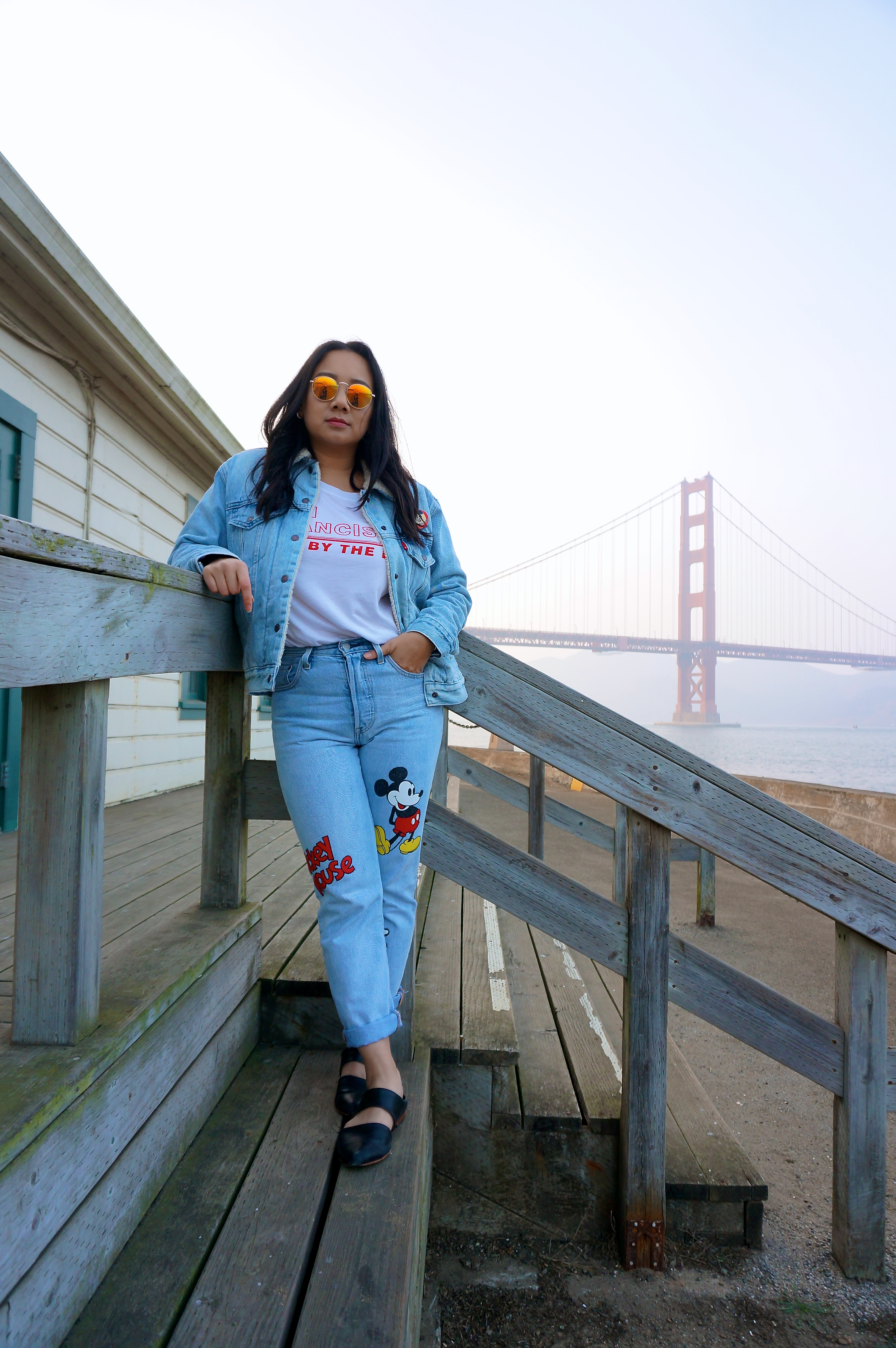 San Francisco Disney Style Mickey Mouse True Original Levi's Golden Gate Bridge